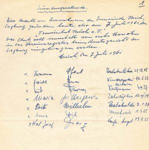 Gründungsurkunde 01-07-1961